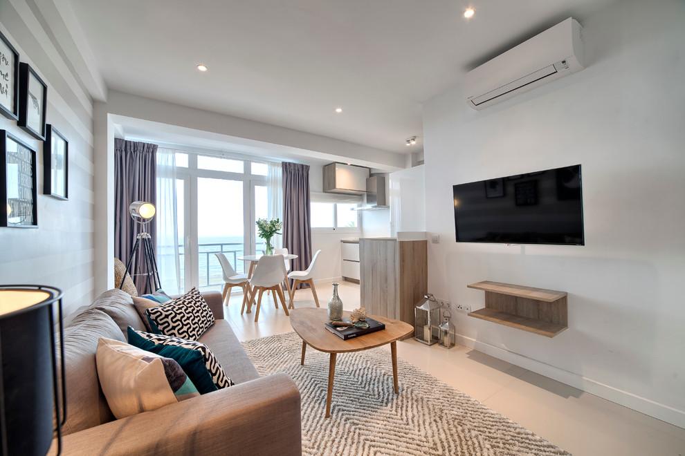 Example of a danish living room design in Malaga