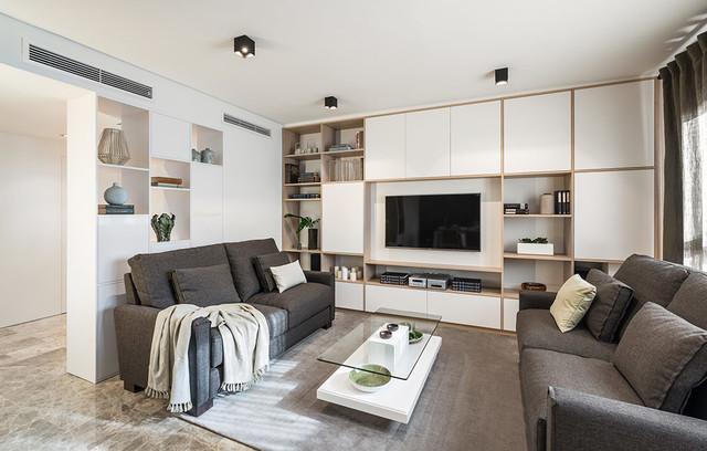Estilo eco friendly para una vivienda moderno sal n valencia de laura yerpes estudio de - Interiorismo de salones ...