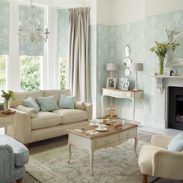 Josette duck egg primavera verano 2016 transitional for Duck egg blue living room designs