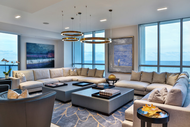 Miami beach residence 3 for W living room miami