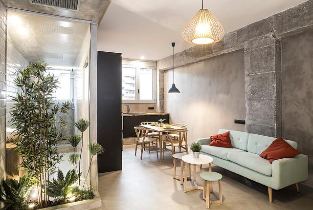 Salón comedor industrial - Industrial - Wohnbereich - Barcelona ...