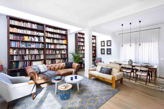 una casa de libro - anni '50 - soggiorno - madrid - di egue y seta - Soggiorno Anni 50