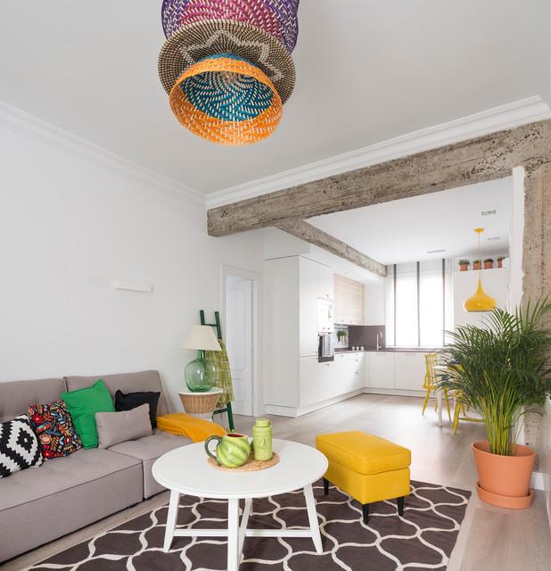Vivienda bilbao 2 eclectic living room bilbao by - Natalia zubizarreta ...