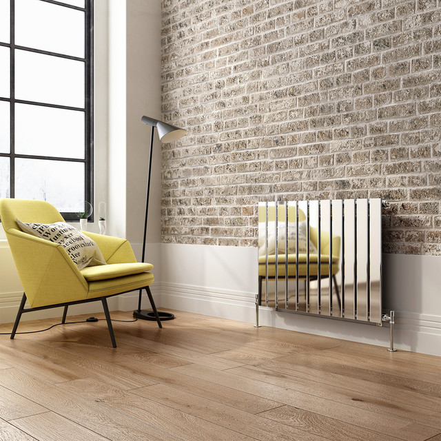 600x830mm chrome single flat panel horizontal radiator hayes premium contemporary living