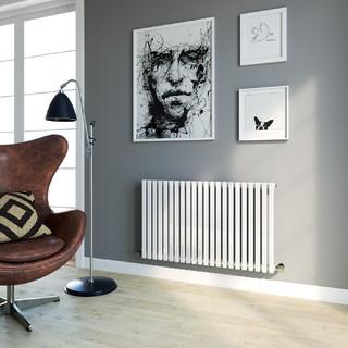 600x990mm white square panel designer horizontal radiator contemporary living room other - Designer radiators for living rooms ...