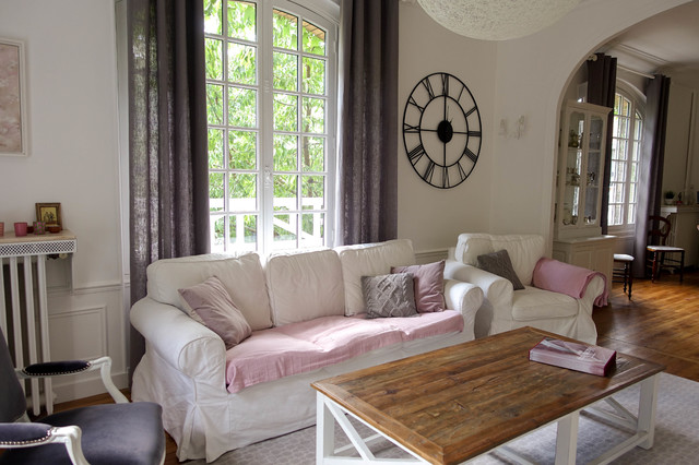 Ambiance Campagne Chic Farmhouse Living Room Paris