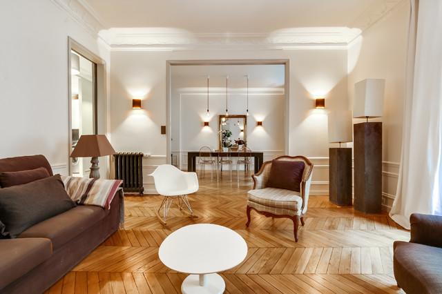 D'un Agencement Appartement Haussmannien 110m2 Et Aménagement De bYf7ymIg6v