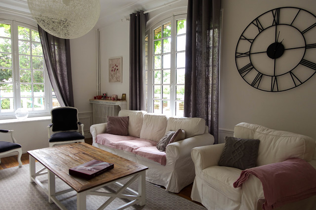 Amenagement Et Decoration D Un Sejour Au Style Campagne Chic