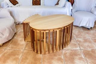 Am nagement mobilier bois dans une maison traditional living room saint etienne by - Mobilier jardin d ulysse saint etienne ...
