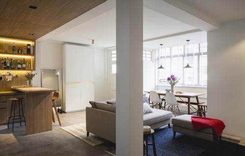 แปลนแบบคอนโดสองห้องนอน 11 Singapore Modern