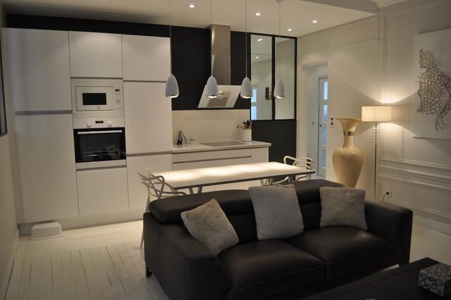 appartement 3 pi ces et fonctionnelle cuisine ouverte sur le salon. Black Bedroom Furniture Sets. Home Design Ideas