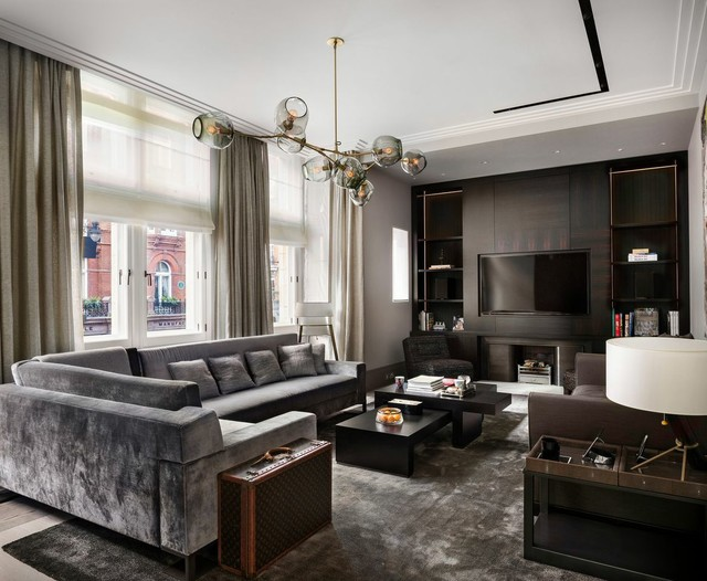 Appartement londres contemporary living room other for Appartement design londres