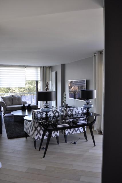 appartement au chic parisien salle de s jour. Black Bedroom Furniture Sets. Home Design Ideas