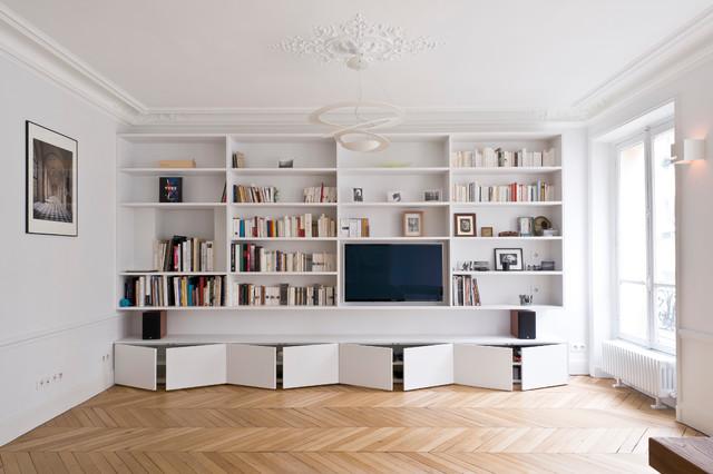 optez pour un meuble tv bibliotheque