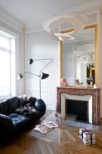 appartement de type haussmannien contemporain salon bordeaux par daphn serrado. Black Bedroom Furniture Sets. Home Design Ideas