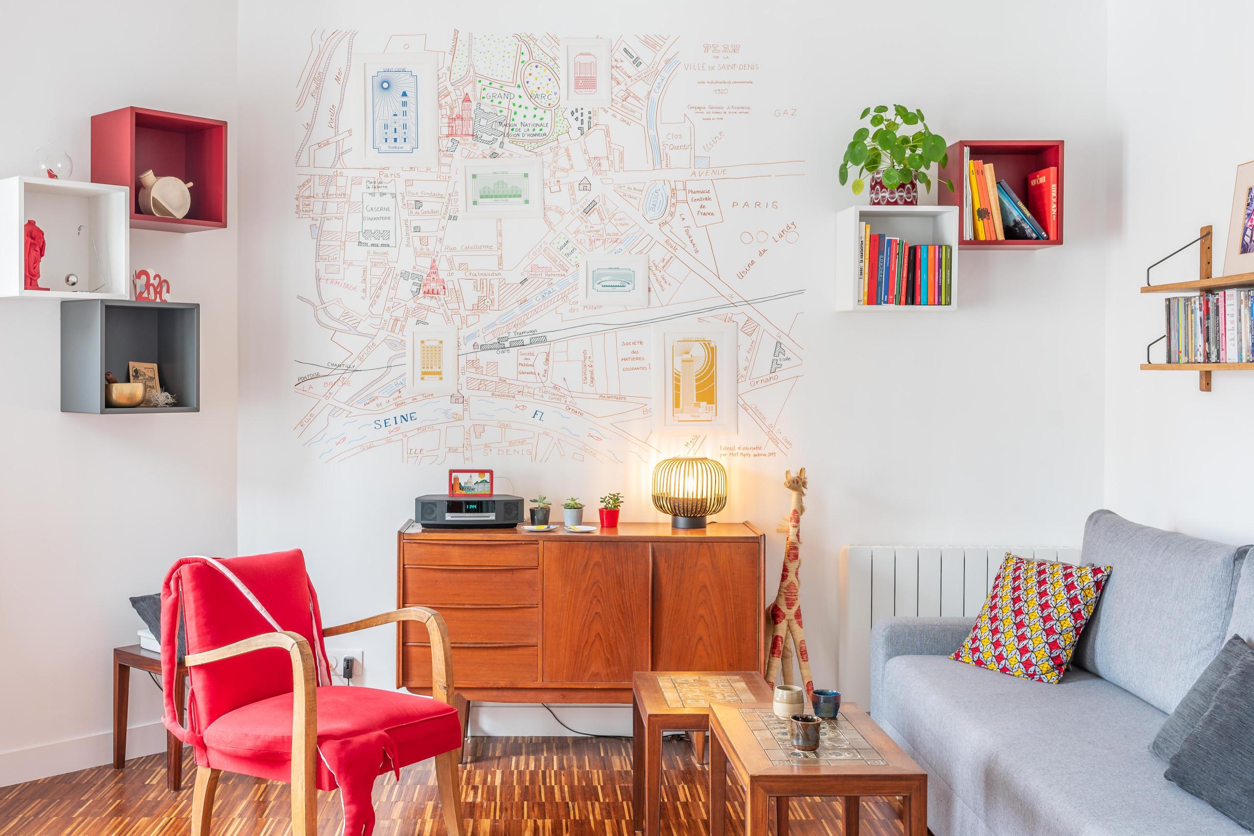 Appartement & atelier lumineux pour une créatrice de pop up