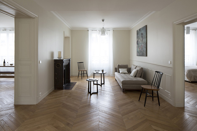 appartement haussmannien paris artois salon classique chic salon paris par think tank. Black Bedroom Furniture Sets. Home Design Ideas