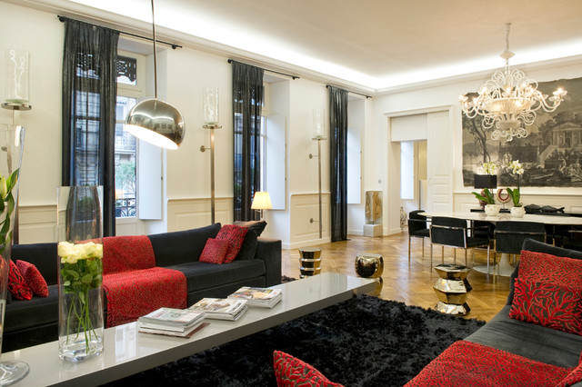 Appartement haussmannien toulouse contemporain salon toulouse par t - Interieur appartement parisien ...