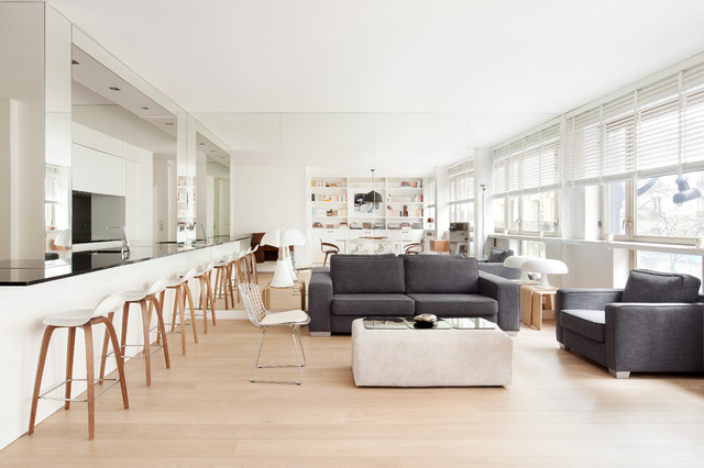 Appartement paris 07 scandinave salon other metro par cda design - A vivre architecture ...