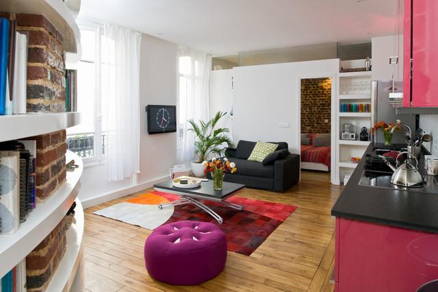 Appartement paris 12 65m2 contemporain salon paris par manuel sequeira architecte d p l g - Salon art contemporain paris ...