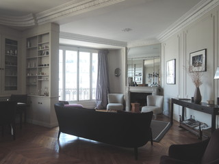 appartement paris xvi salon classique chic salon paris par christine fath architecte d. Black Bedroom Furniture Sets. Home Design Ideas