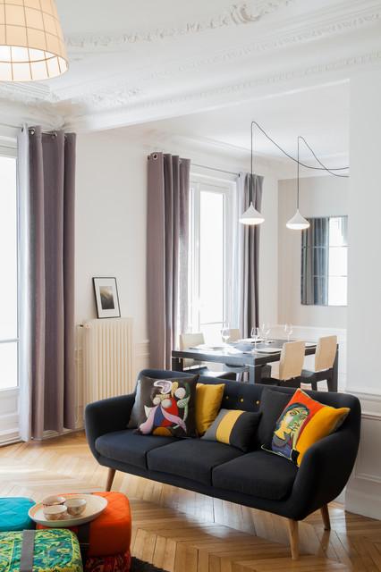 appartement parisien contemporain salon paris par nooor architecte d 39 interieur. Black Bedroom Furniture Sets. Home Design Ideas