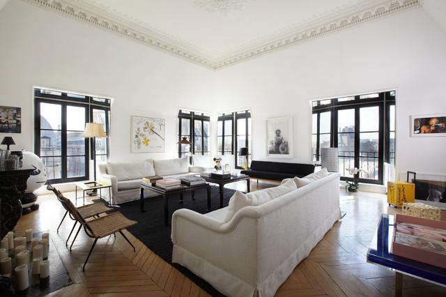 Appartement parisien the sitting room contemporain for Salle de sejour