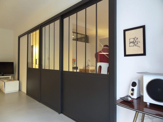 Appartement rue de cuire - Cloison amovible style atelier ...