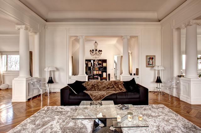 Appartement rue dufrenoy paris classique chic salon for Salon classique chic