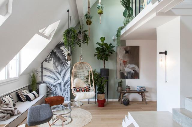 Atelier Daaa, SAINT JACQUES LOFT - Modern - Wohnbereich ...