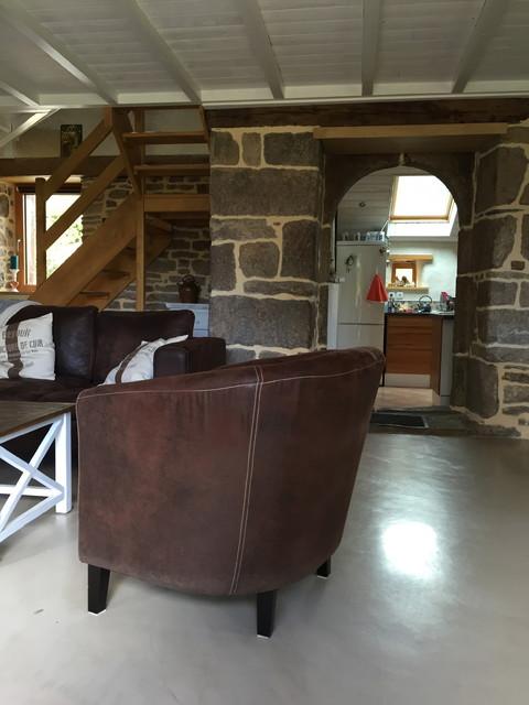 beton cire nantes campagne salon nantes par l 39 atelier des sols. Black Bedroom Furniture Sets. Home Design Ideas