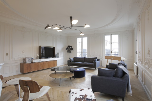 blvd Haussmann 18e - Contemporary - Living Room - Paris - by ...