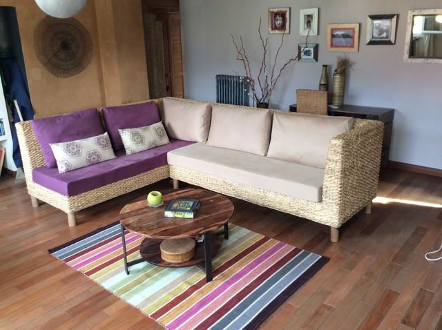 canap d 39 angle cologique exotique salon grenoble par onatureshop. Black Bedroom Furniture Sets. Home Design Ideas
