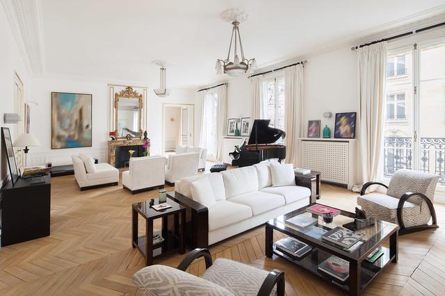 Charme et luxe parisien - Klassisch modern - Wohnbereich ...