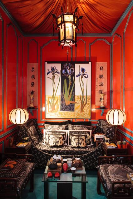 Chateau d 39 ecrainville asiatique salon other metro - Salon style asiatique ...
