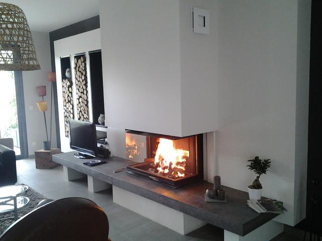 cheminee comptemporaine. Black Bedroom Furniture Sets. Home Design Ideas