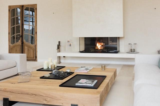 Cheminée foyer contemporaine & design avec vitre escamotable ...