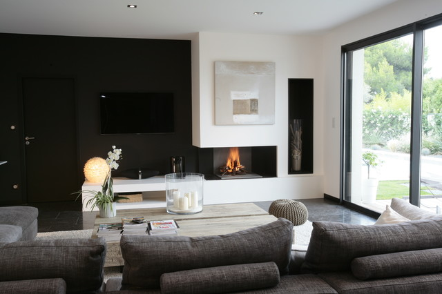 Chemin Es Contemporaines Barth L My Diaz Contemporary Living Room Montpellier By