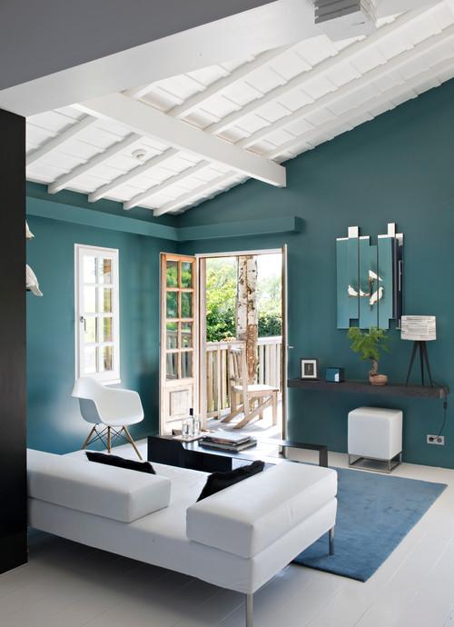 Tendance : L\'irrésistible Bleu Paon - La Maison du Canapé