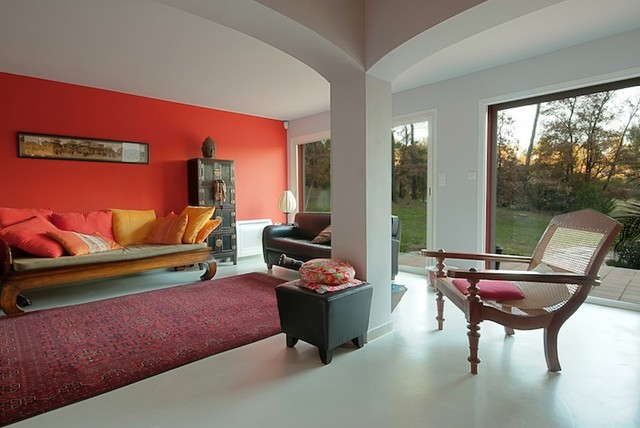 Colorful Asian Living Room Other Metro By