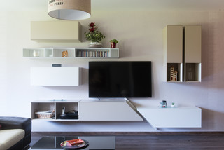 composition murale pour meuble tv design - modern - living room ... - Meuble Living Design