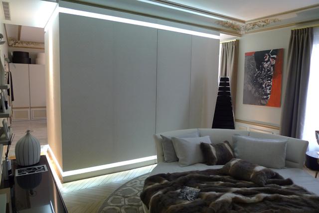 Concrete bedroom private apartment george v paris contemporary living room paris by - Beton door lcda ...