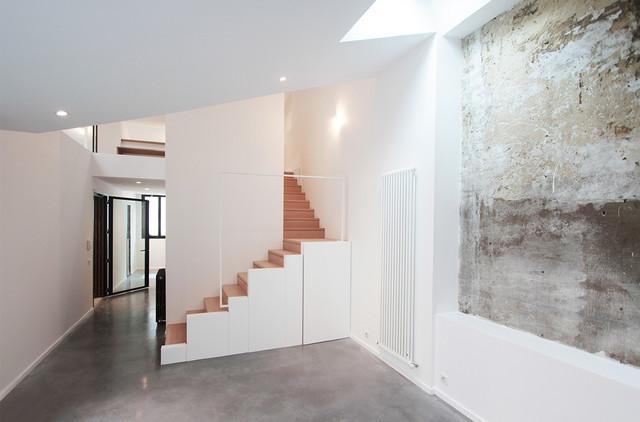 Construction dune Maison à ossature bois  Contemporary  Living Room