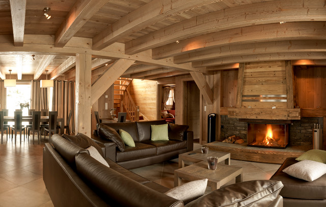 Awesome photo interieur chalet montagne contemporary for Decoration interieur chalet montagne