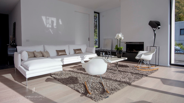 Decoration Contemporaine Noir Et Blanc Contemporary Living Room Other Metro By Isabelle