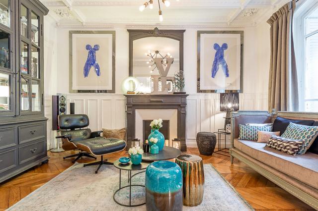 Decoration d 39 un appartement rue poussin paris 4 for Appartement decoration platre
