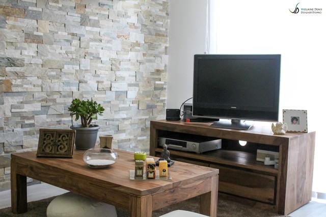 d coration d 39 une pi ce vivre contemporain salon toulouse par violaine denis. Black Bedroom Furniture Sets. Home Design Ideas