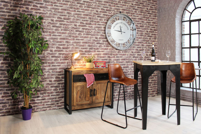D coration industrielle industriel salon lille par made in meubles - Decoration salon industriel ...