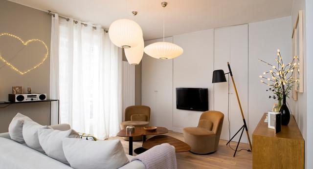 Duplex paris contemporain salon paris par julien clapot - Salon art contemporain paris ...