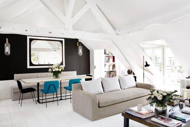 duplex parisien living room scandinave salon paris par sarah lavoine studio d. Black Bedroom Furniture Sets. Home Design Ideas